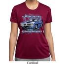 Ladies Dodge Shirt Blue Dodge Charger Moisture Wicking Tee T-Shirt