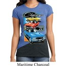 Ladies Dodge Shirt Challenger Trio Tri Blend Crewneck Tee T-Shirt