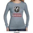 Ladies Dodge Shirt Ram Hemi Logo Long Sleeve Thermal Tee T-Shirt