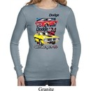 Ladies Dodge Shirt Vintage Chargers Long Sleeve Thermal Tee T-Shirt