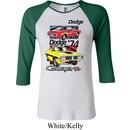 Ladies Dodge Shirt Vintage Chargers Raglan Tee T-Shirt