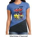 Ladies Dodge Shirt Vintage Chargers Tri Blend Crewneck Tee T-Shirt