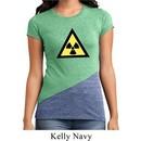 Ladies Fallout Shirt Radioactive Triangle Tri Blend Crewneck T-Shirt