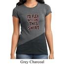 Ladies Fitness Shirt Id Flex Tri Blend Crewneck Tee T-Shirt