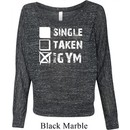 Ladies Fitness Shirt Single Taken At The Gym Off Shoulder Tee T-Shirt