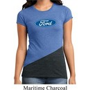 Ladies Ford Shirt The Ford Oval Tri Blend Crewneck Tee T-Shirt