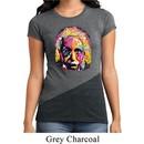 Ladies Funny Shirt Albert Einstein Tri Blend Crewneck Tee T-Shirt