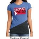 Ladies Funny Shirt Dropped On My Head Tri Blend Crewneck Tee T-Shirt