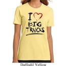 Ladies Funny Shirt I Love Big Trucks Organic Tee T-Shirt