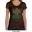 Ladies Funny Shirt Natures Medicine Scoop Neck Tee T-Shirt