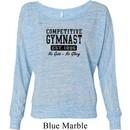 Ladies Gymnastics Shirt Competitive Gymnast Off Shoulder Tee T-Shirt