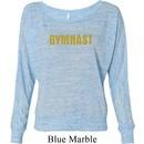 Ladies Gymnastics Shirt Gold Shimmer Gymnast Off Shoulder Tee T-Shirt