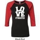 Ladies Gymnastics Shirt Love Gymnastics Raglan Tee T-Shirt