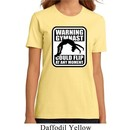 Ladies Gymnastics Shirt Warning Gymnast Could Flip Organic Tee T-Shirt