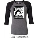 Ladies Gymnastics Shirt Warning Gymnast Could Flip Raglan Tee T-Shirt