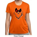 Ladies Halloween Shirt Ghost Face Moisture Wicking Tee T-Shirt