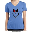 Ladies Halloween Shirt Ghost Face Moisture Wicking V-neck Tee T-Shirt