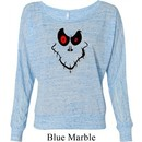 Ladies Halloween Shirt Ghost Face Off Shoulder Tee T-Shirt