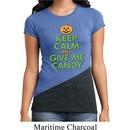 Ladies Halloween Shirt Give Me Candy Tri Blend Crewneck Tee T-Shirt