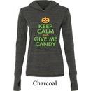 Ladies Halloween Shirt Give Me Candy Tri Blend Hoodie Tee T-Shirt