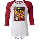 Ladies Jimi Hendrix Shirt Hendrix Colorful Raglan Tee T-Shirt