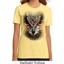 Ladies Owl Shirt Big Owl Face Organic T-Shirt