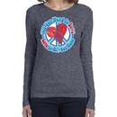 Ladies Peace Shirt All You Need is Love Long Sleeve Tee T-Shirt