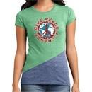 Ladies Peace Shirt Give Peace a Chance Tri Blend Crewneck Tee T-Shirt