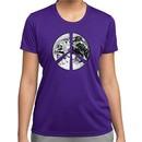 Ladies Peace Shirt Peace Earth Moisture Wicking Tee T-Shirt