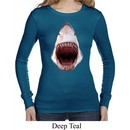 Ladies Shark Shirt 3D Shark Long Sleeve Thermal Tee T-Shirt