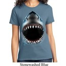 Ladies Shark Shirt Big Shark Face Tee T-Shirt
