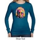 Ladies Shirt Albert Einstein Long Sleeve Thermal Tee T-Shirt
