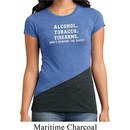 Ladies Shirt Alcohol Tobacco Firearms Tri Blend Crewneck Tee T-Shirt