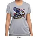 Ladies Shirt American Pride Motorcycle Moisture Wicking Tee T-Shirt