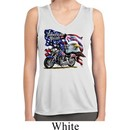 Ladies Shirt American Pride Motorcycle Sleeveless Moisture Wicking Tee