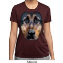 Ladies Shirt Big German Shepherd Face Moisture Wicking Tee T-Shirt