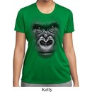 Ladies Shirt Big Gorilla Face Moisture Wicking Tee T-Shirt