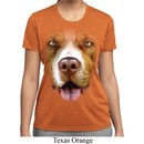 Ladies Shirt Big Pit Bull Face Moisture Wicking Tee T-Shirt