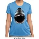 Ladies Shirt Big Shark Face Moisture Wicking Tee T-Shirt