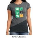 Ladies Shirt Eat Drink Be Irish Tri Blend Crewneck Tee T-Shirt