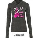 Ladies Shirt Fight For a Cure Tri Blend Hoodie Tee T-Shirt
