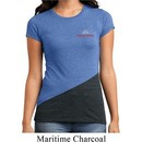 Ladies Shirt Ford Racing Pocket Print Tri Blend Crewneck Tee T-Shirt