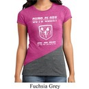 Ladies Shirt Guts and Glory Ram Logo Tri Blend Crewneck Tee T-Shirt