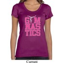 Ladies Shirt Gymnastics Text Scoop Neck Tee T-Shirt