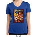 Ladies Shirt Hendrix Colorful Moisture Wicking V-neck Tee T-Shirt