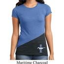 Ladies Shirt Legend Lives Crest Bottom Print Tri Blend Crewneck Tee