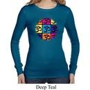 Ladies Shirt Pop Art Om Long Sleeve Thermal Tee