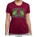 Ladies Shirt This Ghoul Loves Halloween Moisture Wicking Tee T-Shirt