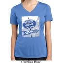 Ladies Shirt Vintage Sign Genuine Ford Moisture Wicking V-neck Tee