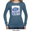 Ladies Shirt Vintage Sign Genuine Ford Parts Long Sleeve Thermal Tee